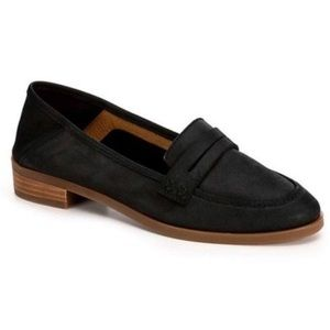 Lucky Brand Caylon Black Leather Loafers